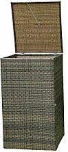 Mülleimer Box Evensa in Braun Grau 240 Liter Pharao24