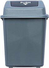 Mülleimer Esscafé im Freien 40L Mülleimer Abdeckung Abdeckung Kunststoff große Mülleimer , gray