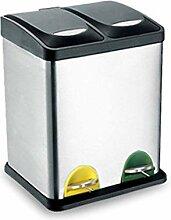 Mülleimer für Küchenmüllrecyclingpedal 16L