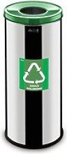 Mülleimer für mülltrennung, 45 l, rostfreier