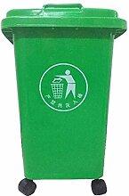 Mülleimer Green Trash Can, Mülleimer auf