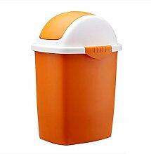 Mülleimer Großer Kunststoff Müllkannen Kreativ Shake Abdeckung Mülleimer Haushalt Schlafzimmer Wohnzimmer Badezimmer Mülleimer , orange