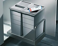 Mülleimer Hailo 3616-45 Bottom-Mount Abfallsammler Einbauabfallsammler Mistkübel