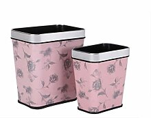 Mülleimer Haushalt Küche Wohnzimmer Badezimmer Abfalleimer Büro Großer kreativer Druckring keine Abdeckung Müllbehälter , pink