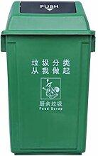 Mülleimer im Freien Mülleimer (Farbe : Grün,