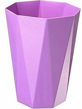Mülleimer Kein Deckel Mülleimer Haushalt Badezimmer Küche Schlafzimmer Mülleimer Material Kunststoff Größe 23 * 30.5Cm , Purple
