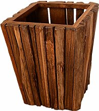 Mülleimer Kreativer Abfall Haushalts-Abfall-Material Teakholz Größe 26 * 20 * 33cm Wohnzimmer-hölzerner Nähender trashless Abfall