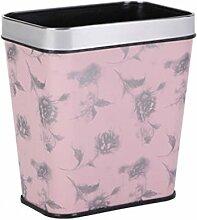 Mülleimer Kreatives Badezimmer Kein Deckel Müllbehälter Küche Wohnzimmer Haushalt Müllbehälter Kunststoff Mülleimer , pink , 12L