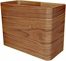 Mülleimer Küche Wohnzimmer Schlafzimmer Abfallkorb Holz Langlebig Lagerfässer , S