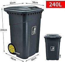 Mülleimer Kunststoff Mit Einer Klappe   Doppelrad