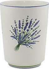 Mülleimer Lavendel Bad Keramik creme lila