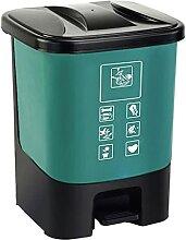 Mülleimer mit Deckel, 20 l, für Haushalt und
