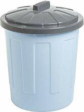 Mülleimer mit Deckel 21 Liter groß rund