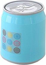Mülleimer Mit Lovely Home Use Schlafzimmer Wohnzimmer Badezimmer Küche Süßigkeiten Farben Small Size ( Farbe : Blau , größe : 16.5*20*19cm )