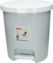 Mülleimer mit Pedal 25 L grau meliert Abfalleimer Eimer Abfall Küche Kunststoff