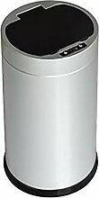 Mülleimer mit Sensor, Edelstahl, rund, für