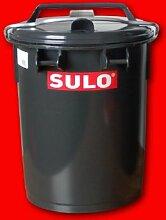 Mülleimer mit Verschlussbügel und Tragegriffen Größe: 35L