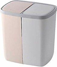 Mülleimer mit zwei Fächern klassifizierter