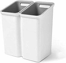Mülleimer mit zwei Fächern kleiner
