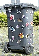 Mülleimer Mülltonnen Aufkleber Mülltonnenaufkleber Schmetterlinge 22tlg.