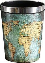 Mülleimer Papierkorb mit Metallring Wasserdichter
