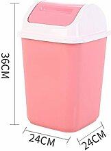Mülleimer Poubelle Abfalleimer Pink Plastic