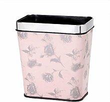 Mülleimer rechteckig Kunststoff Mülleimer Haushalt Küche Wohnzimmer Badezimmer Abfalleimer Büro Kreativ Kein Deckel Mülleimer , pink , 12L
