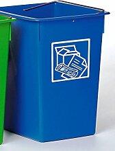 Mülleimer Recycling blau 29x 32x 40cm