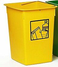 Mülleimer Recycling gelb 29x 32x 40cm C/Griff