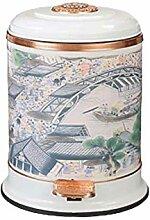 Mülleimer, Retro Vintage Mülleimer mit Deckel