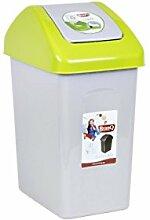 Mülleimer Schwingdeckel 10 Liter grün Papierkorb Abfalleimer