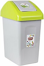 Mülleimer Schwingdeckel 25 Liter grün Papierkorb