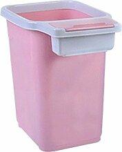 Mülleimer Setzen Müllsäcke Haushaltsplastik Kein Deckel Mülleimer mit Druckkreis Wohnzimmer Küche Badezimmer Mülleimer Spezifikationen 34,5 * 20 * 31Cm , Pink