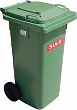 Mülleimer SULO, handgearbeitete 120L mit Rädern und Deckel grün (22069)