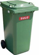 Mülleimer SULO, handgearbeitete 240L mit Rädern und Deckel grün (22065)