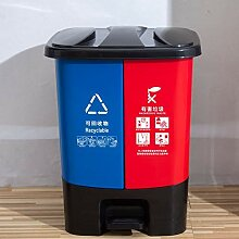 Mülleimer Trockene und Nasse Trennung Kunststoff