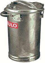 Mülleimer verzinkt 35 Liter