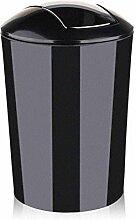 Mülleimer Wc Mülleimer Wohnzimmer Wohnraum Abfallkorb 10L , Black