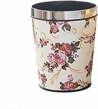 Mülleimer Wohnzimmer Kreativ Haushalt Müll kann Badezimmer Büro RoomTrash bin Papier Material Leder , C , 6L