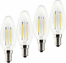 MÜLLER-LICHT 4er-SET Retro-LED Lampe Kerzenform