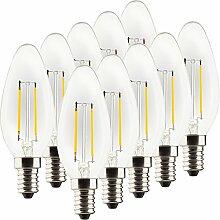 MÜLLER-LICHT Retro-LED Lampe, Kerzenform, ersetzt