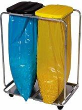 Müllsackständer für 2 x 120-l-Müllsäcke, mit