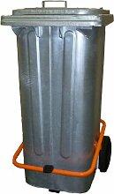 Mülltonne 120 liter Stahl mit Tretpedal