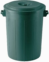 Mülltonne mit Deckel grün 100l