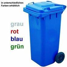 Mülltonne mit Rädern, 120 ltr. HDPE - grün