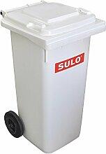 Mülltonne Müllbehälter 120 liter, weiß -