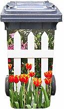 Mülltonnen-Aufkleber Motiv Garten 1 37 cm x 82 cm für 240 l Tonne