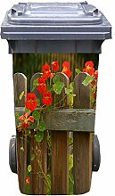 Mülltonnen-Aufkleber Motiv Garten 2 37 cm x 82 cm für 240 l Tonne