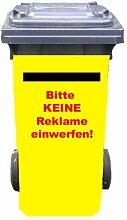 Mülltonnen-Aufkleber Motiv Reklame 37 cm x 82 cm für 240 l Tonne