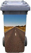 Mülltonnen-Aufkleber Motiv Route 66 37 cm x 82 cm für 240 l Tonne